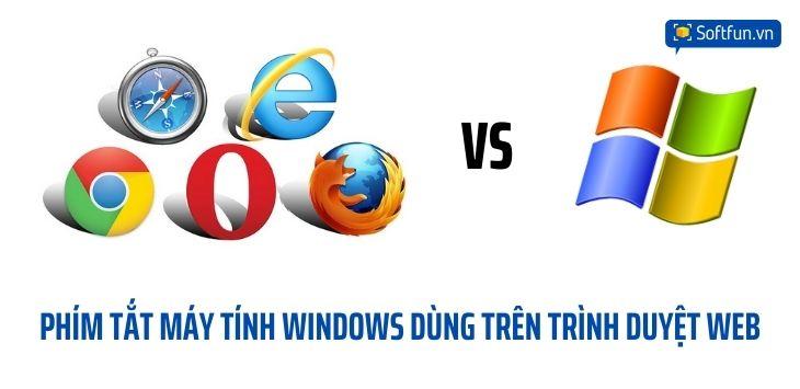 Phím tắt dùng trên trình duyệt web