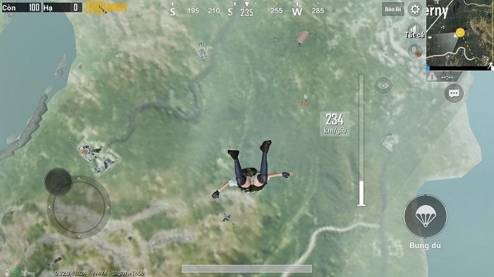 Muốn Top 1 PUBG Mobile cần nhảy dù nhanh