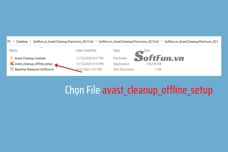 Chọn file avast_cleanup_offline_setup