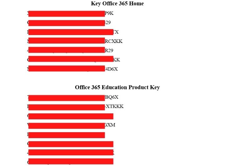 Key Office 365 cập nhật mới nhất 2021