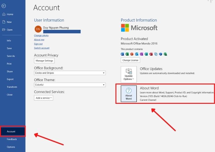 Kiểm tra bản quyền Microsoft Office 365